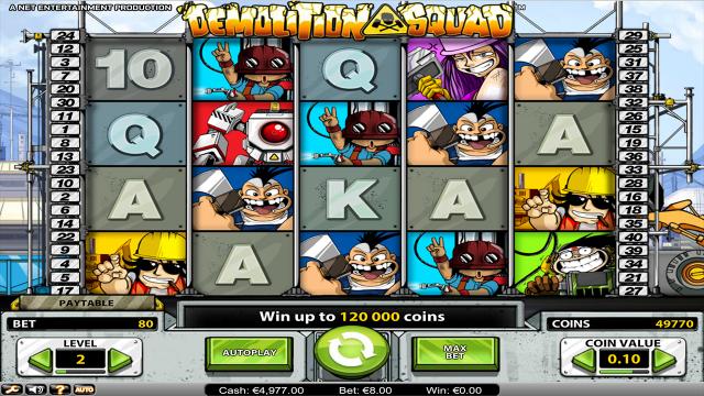 Бонусная игра Demolition Squad 5