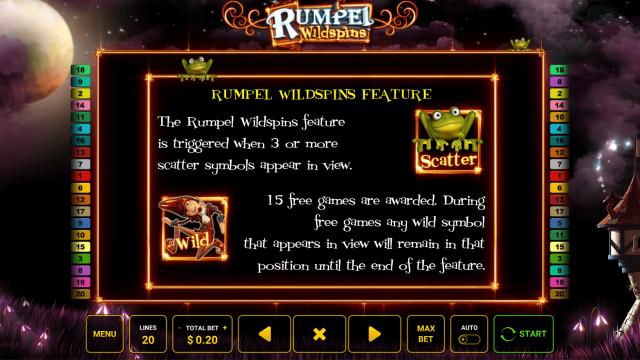 Бонусная игра Rumpel Wildspins 2