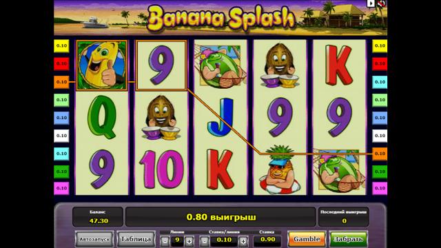 Игровой интерфейс Banana Splash 4