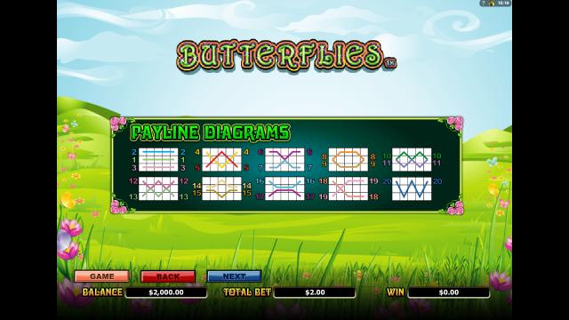 Бонусная игра Butterflies 5