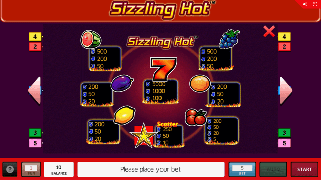 Бонусная игра Sizzling Hot 16