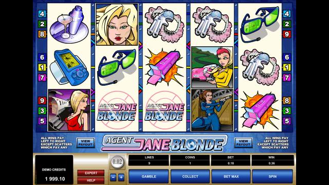 Характеристики слота Agent Jane Blonde 2