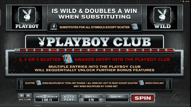 Игровой интерфейс Playboy 4