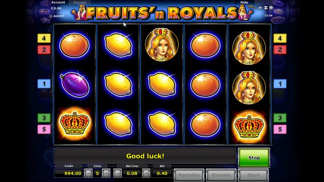 Игровой интерфейс Fruits And Royals 2