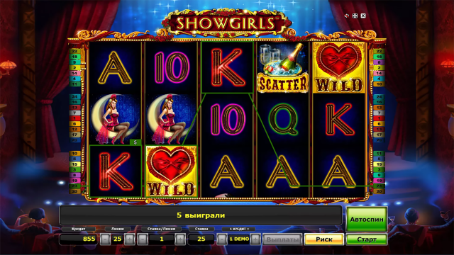 Игровой интерфейс Showgirls 5