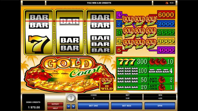 Игровой интерфейс Gold Coast 7