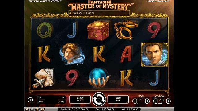 Характеристики слота Fantasini: Master Of Mystery 1