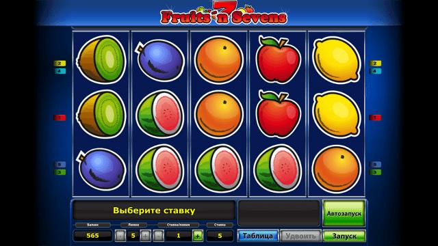 Характеристики слота Fruits' N Sevens 10