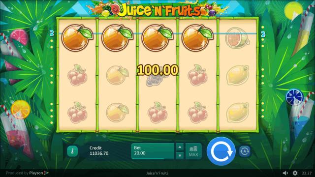 Игровой интерфейс Juice 'N' Fruits 7