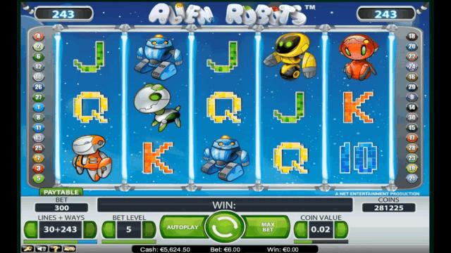 Бонусная игра Alien Robots 6