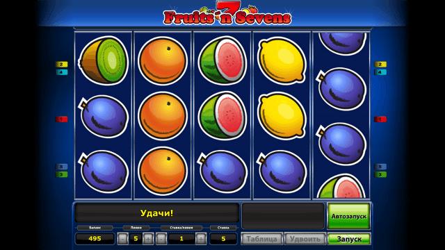 Характеристики слота Fruits' N Sevens 1