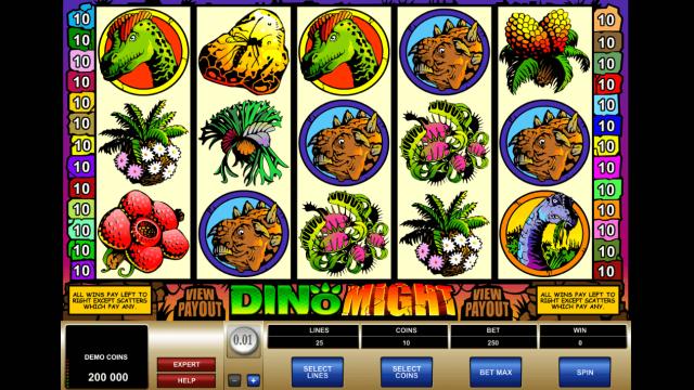 Игровой интерфейс Dino Might 1