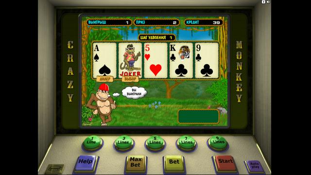Игровой интерфейс Crazy Monkey 7