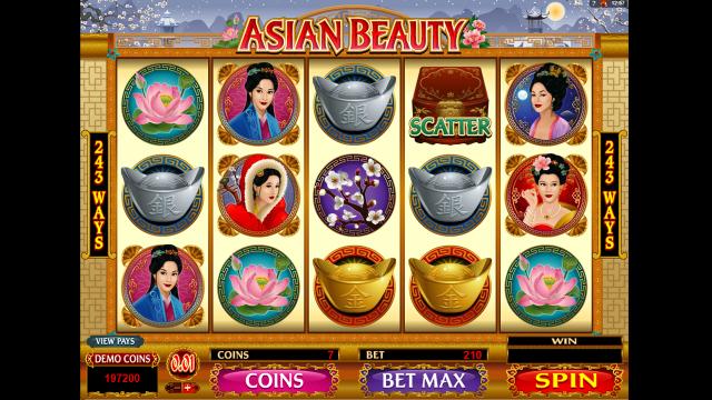 Характеристики слота Asian Beauty 3