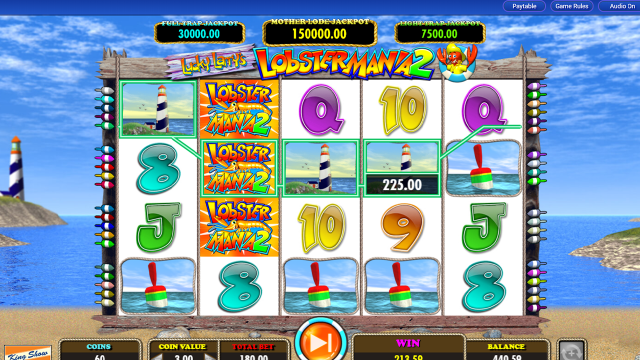 Игровой интерфейс Lucky Larry's Lobstermania 2 20
