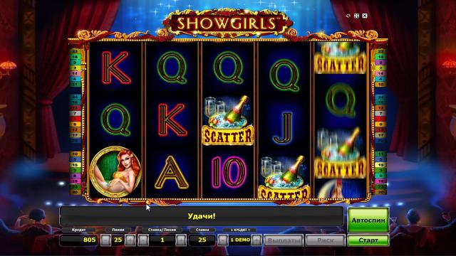 Характеристики слота Showgirls 10