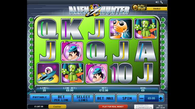 Игровой интерфейс Alien Hunter 1