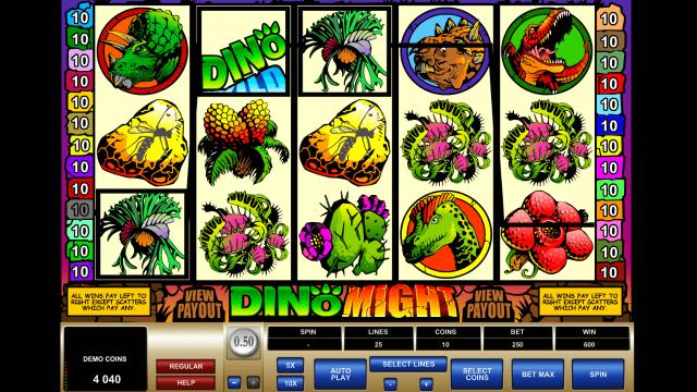 Игровой интерфейс Dino Might 3