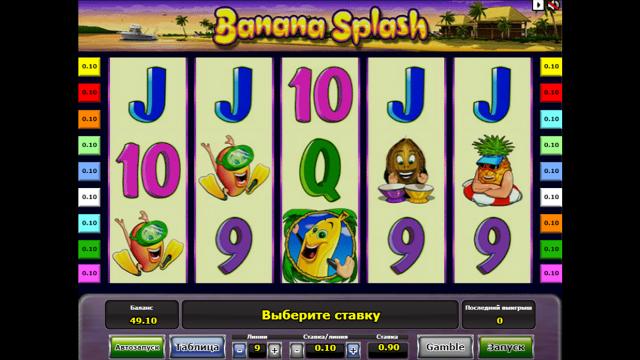 Игровой интерфейс Banana Splash 2