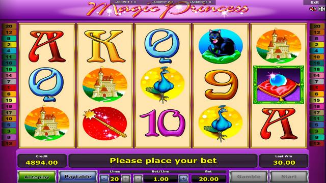 Игровой интерфейс Magic Princess 6