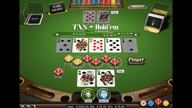 Игровой интерфейс TXS Hold'em Pro Series 7