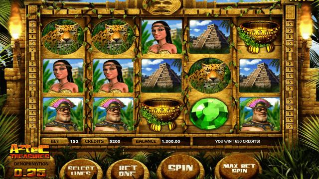 Игровой интерфейс Aztec Treasures 3D 9