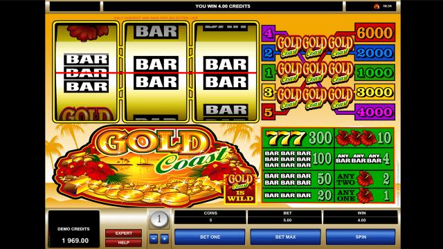Бонусная игра Gold Coast 8