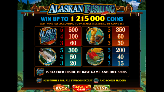 Игровой интерфейс Alaskan Fishing 2