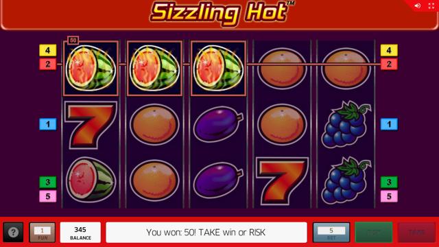 Характеристики слота Sizzling Hot 11