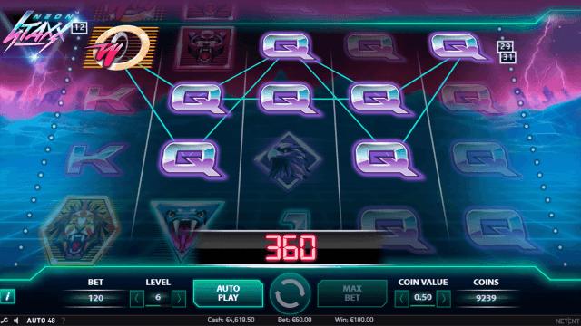 Игровой интерфейс Neon Staxx 7