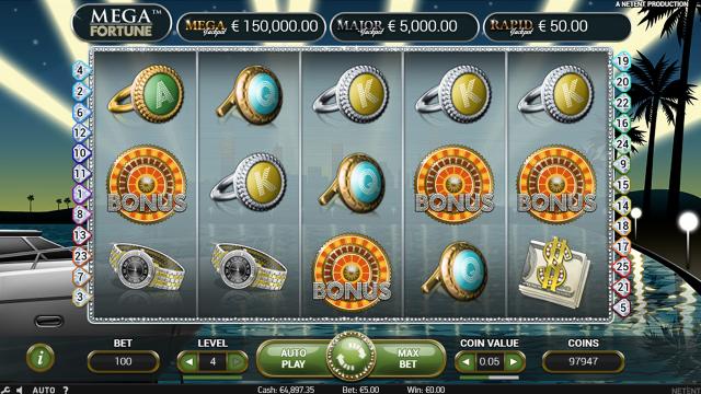 Игровой интерфейс Mega Fortune 5