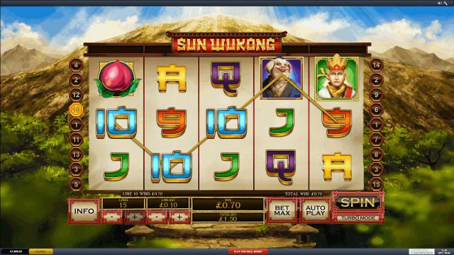 Характеристики слота Sun Wukong 1