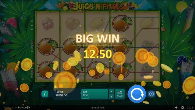 Характеристики слота Juice 'N' Fruits 2