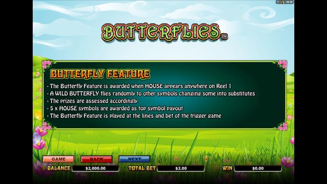 Бонусная игра Butterflies 3