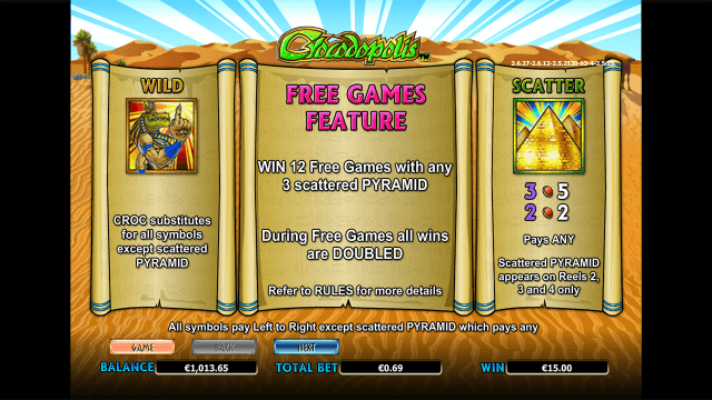 Игровой интерфейс Crocodopolis 4