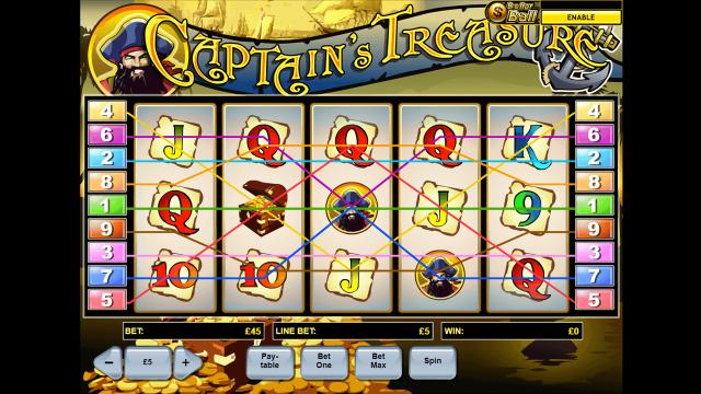 Игровой интерфейс Captain's Treasure 10