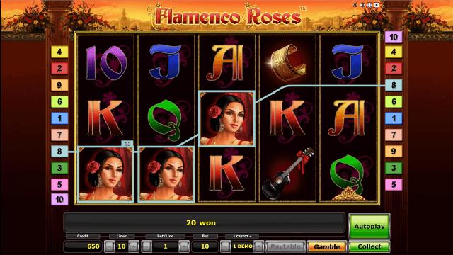 Игровой интерфейс Flamenco Roses 10