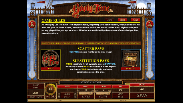 Бонусная игра Booty Time 5