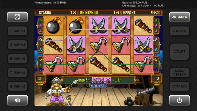 Характеристики слота Pirate 1