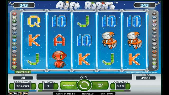 Игровой интерфейс Alien Robots 1