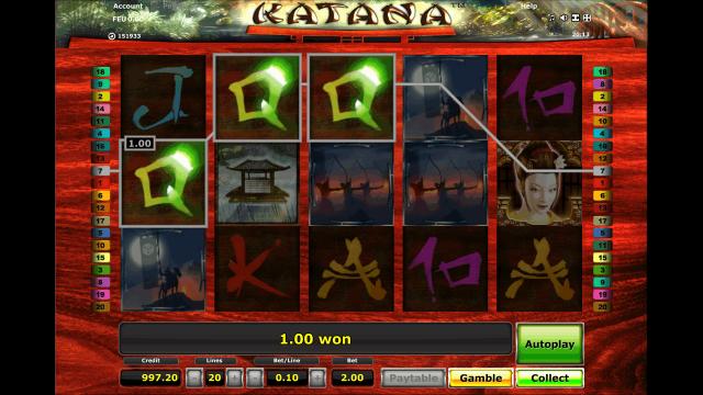 Бонусная игра Katana 5