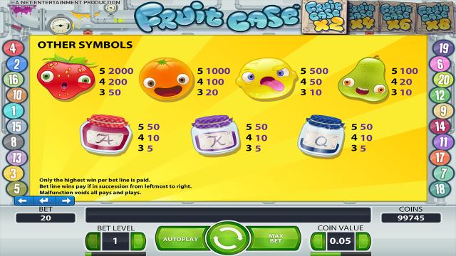 Бонусная игра Fruit Case 4