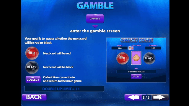 Бонусная игра Great Blue 3