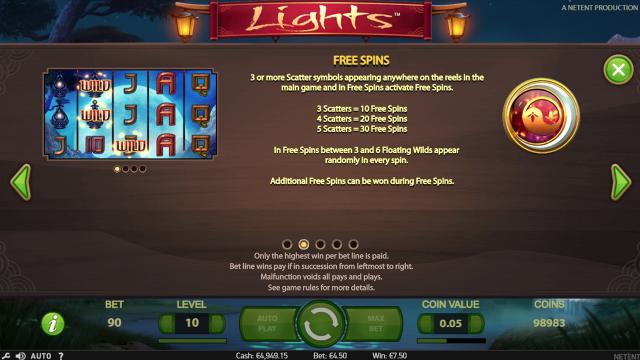 Игровой интерфейс Lights 2