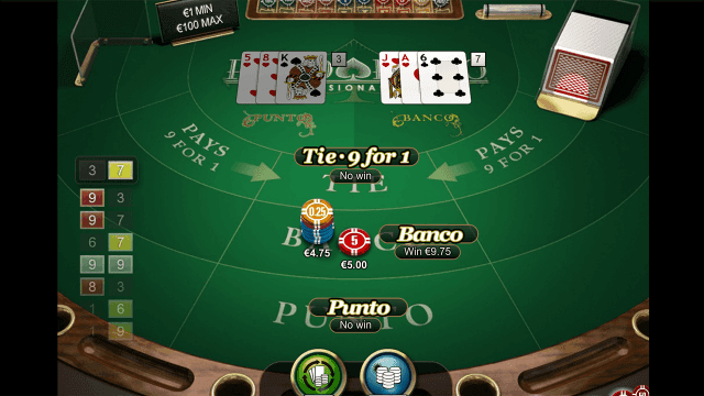 Бонусная игра Punto Banco Professional Series 10