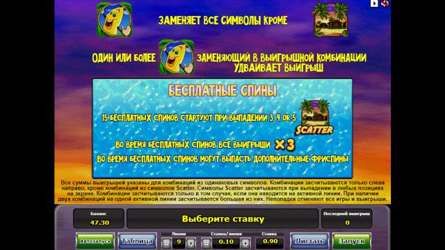 Бонусная игра Banana Splash 7