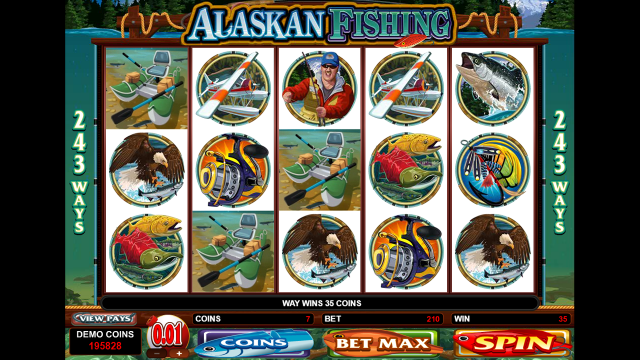 Игровой интерфейс Alaskan Fishing 4