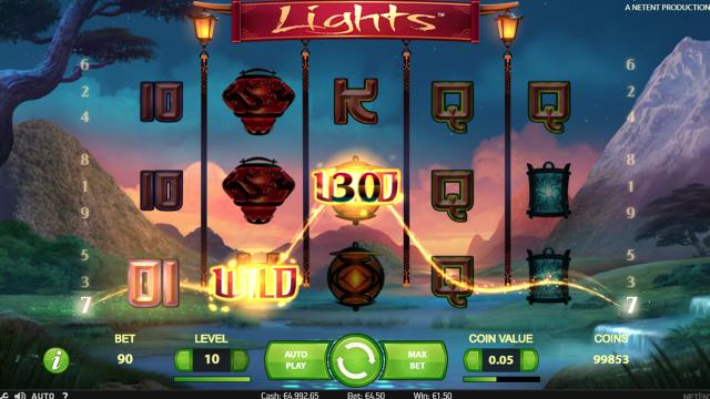 Игровой интерфейс Lights 9