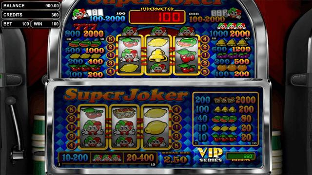 Игровой интерфейс Super Joker VIP 3