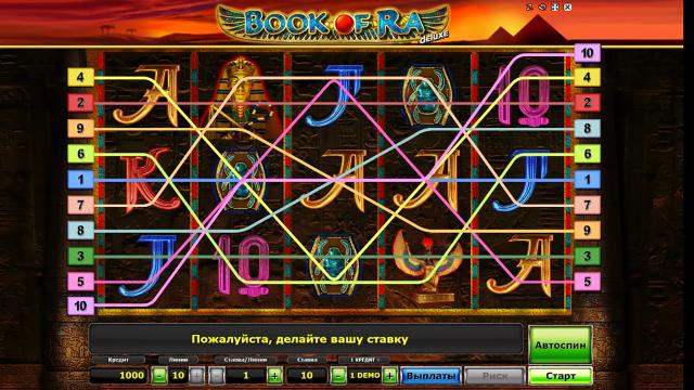 Игровой интерфейс Book Of Ra Deluxe 2